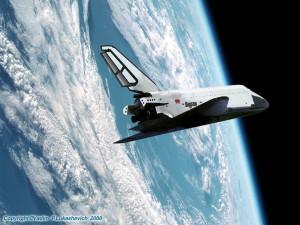 Буран в космосе