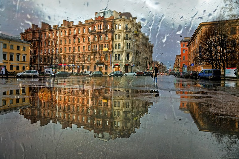 Дождь в городе - фото из интернета